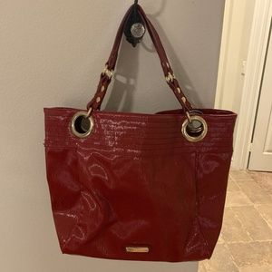 Steve Madden Red Candy Glazed Large Tote